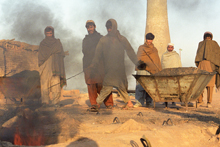 Brick workers near Peshawar